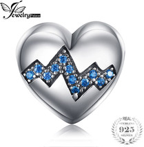 JewelryPalace 925 Sterling Silver My Heart Beats Fast Blue Cubic Zirconi... - $24.80