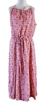 NWT $150 Ralph Lauren Crinkled Gauzy Printed Maxi Dress Keyhole Drawstri... - €27,25 EUR