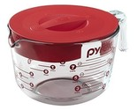 Pyrex Measuring Glass Cup Set Of 4 Piece with Lid Microwavable Cooking Safe NEW