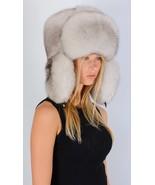 Saga Furs Natural White Fox Fur Men Women Unisex Russian Aviator Trapper... - $249.99
