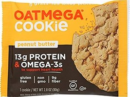 Oatmega Grass Fed Whey Protein Cookies 12 Packs (Peanut Butter) - $36.25
