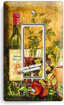 Rustic Tuscan Kitchen Wine Bottle Wineglass 1 Gang Gfci Light Switch Plate Decor - $8.09