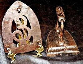 Antique 6 Sad Iron with Trivet AB 565-M image 2