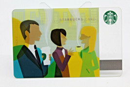 Starbucks Coffee 2011 Gift Card Office Chatting Man Momen Zero Balance N... - $11.27
