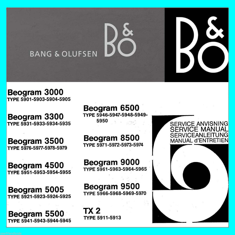 Biggest Bang & Olufsen B&O Service Manuals, and 50 similar items