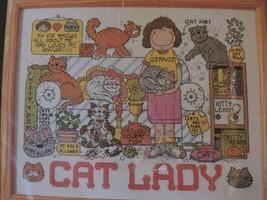 Cat Lady Cross Stitch Kit Pattern Design Works Personalize It Kittens Humor New - $36.45