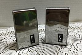 Vintage Aluminum Mid Century Large Salt & Pepper Shakers // Stove Top Sh... - $12.00