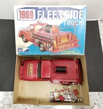 MPC 1969 Fleetside Pickup Fire Truck 1/25 Mostly Built Model Kit 869:200... - $118.79