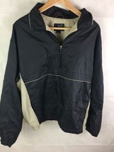 Dockers Golf Pullover Jacket 1/4 Zip Black And Khaki Sz L - $19.32