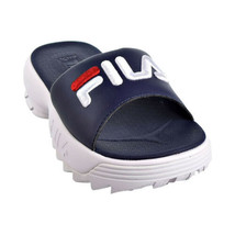 Fila Disruptor Bold Women's Slides Navy-White-Red 5SM00079-422 - $39.95