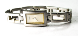 Women's Guess Rectangle Wristwatch Stainless 18mm Quartz - $19.79
