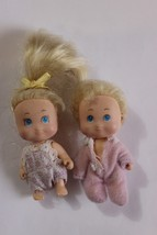 "Tyco Quints Doll House Sized Baby Dolls Twins 2 dolls 2-1/2"" boy girl - $14.24"