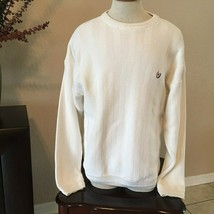 Chaps Ralph Lauren Men Sweater Size XL Oatmeal Hand Framed Cotton LS Crewneck - $11.65