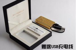 Gold Lion Creative Windproof USB Charging Pulse Arc Lighter - One Lighter w/box image 3
