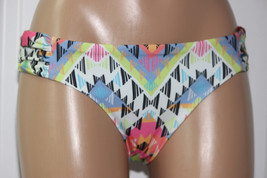 NEW Becca Rebecca Multi Cayenne Ruched Tab Side Hipster Bikini Bottom XL XLarge - $11.84