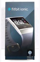 Fitbit Ionic Smartwatch Blue Gray/Silver Gray One Size S & L Bands Included - $240.00