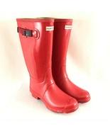 Hunter Womens Original Boots Adjustable Rain Rubber Red Size 7M/8F - $116.09