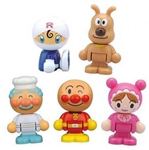 Nuevo Anpanman Pan Mejora Town Doll Set Bandai Japón F / S - $37.88