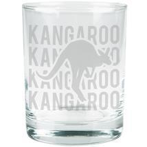 Kangaroo Stack Repeat Etched Glass Tumbler - $16.95