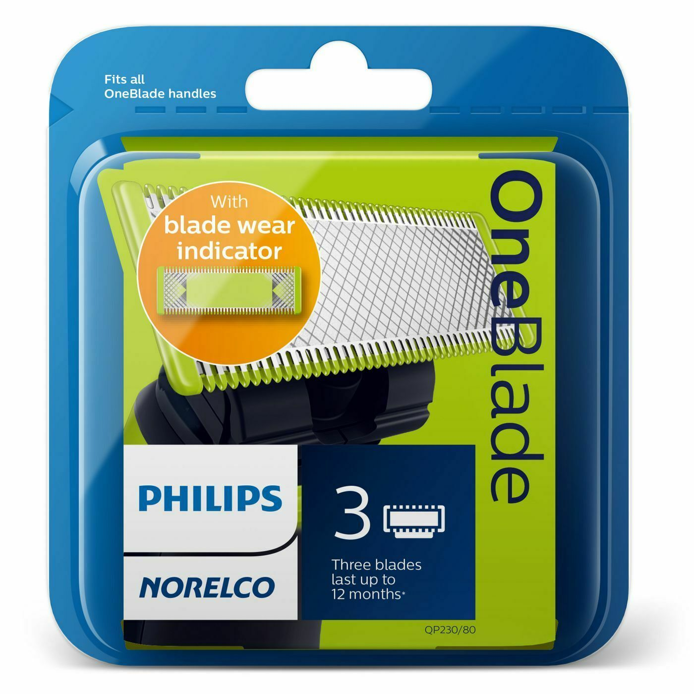 Primary image for Philips Norelco OneBlade Replacement Blade - 3ct - QP230/80 NEW & SEALED
