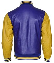 Teen Wolf Varsity Scott Howard Letterman Michael Fox Bomber Leather Jacket image 4