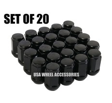 20pc Black Bulge Acorn Lug Nuts 14X1.5 Thread - $11.38