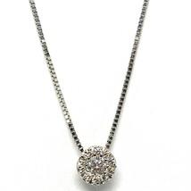 Collar con Colgante Oro Blanco 750 18 CT, Central y Marco, Diamantes, Flor - $335.31+