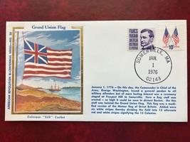 """American Revolution Bi-Centennial  #28 Grand Union Flag - on Colorano """"s... - $3.00"""
