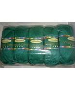 Herrschners Worsted Weight Yarn 0073 Jade 5 New Skeins Acrylic 3.5 Oz  - $19.99
