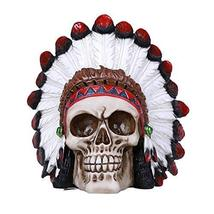Pacific Giftware Indian Human Skull Statue Collectible Home Decor Resin - $26.72