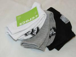 Boy's youth kids Crocs 3 pack Crew Socks - fits shoe 9-3 multi CC56843-3... - $13.36