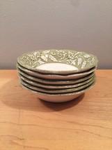 "Set of 6 vintage 60s J & G Meakin Renaissance (green) pattern 5 1/4"" bowls"