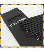 KEVIN&SASA CRAFTS® 12 Pc/Set Wooden Pencils 12 Different Colour Pencil P... - $6.54