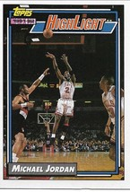 Basketball Card- Michael Jordan 1992 Topps Highlkight #3 - $5.00