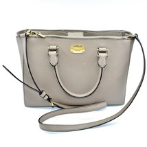 Michael Kors Kellen Fawn Tan Saffiano Leather Medium Satchel Handbag Purse - $69.29