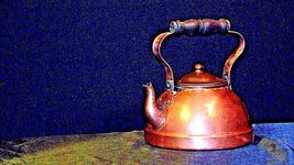 Brass Teapot with Lid AA19-1442 Vintage image 3