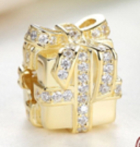 925 St Silver European Charm Bracelet Compatible Charm Bead Sparkling Su... - $22.99