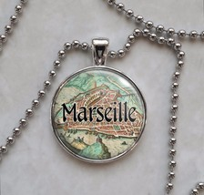 France Choose French City Antique Map Necklace - $15.00+