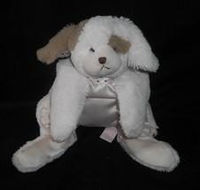 "12"" BEARINGTON BABY PINK PUPPY DOG WIGGLES BLANKET STUFFED ANIMAL PLUSH ... - $17.77"