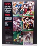 1995 Skybox Impact NFL Football Uncut Promo Card Sheet Brett Favre - $5.93