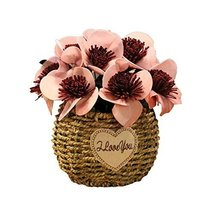 George Jimmy Artificial Flowers Cafe Decoration Table Ornaments-Rose Red - $32.96