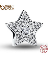 Buy Authentic 925 Sterling Silver Wishing Star Charm Fit Bracelet With C... - $41.99