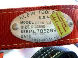 NOS New Klein Tools Model 5446 Linemans Nylon Safety Belt Leather Billet - $87.07