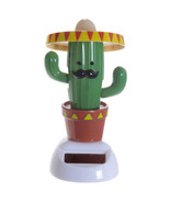 Cactus with Sombrero Motion Figurine Sunlight Powered Moving Solar Pal i... - $11.75