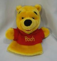 Mattel Disney Winnie the Pooh Hand Puppet Bear Plush Stuffed Red Shirt ARCOTOYS - $9.89
