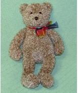 "16"" Gund BEARESSENCE Teddy Bear Rainbow Ribbon Tan #4890 Plush Stuffed A... - $24.75"
