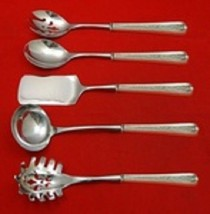Lexington Engraved By Dominick and Haff Sterling Hostess Serving Set 5pc Custom  - $388.55