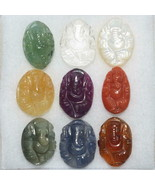 Ganesha In Natural Nine Precious Gem stones - $336.60