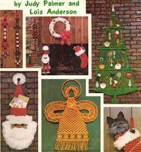 1978 Macrame 'Twas The Knot Before Christmas Tree Santa Ornaments Wreath... - $13.99