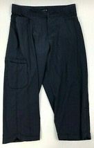 Lee Relaxed Fit Navy Blue Comfort Waistband Women's Cropped Capri Pant 10 Medium - $14.85